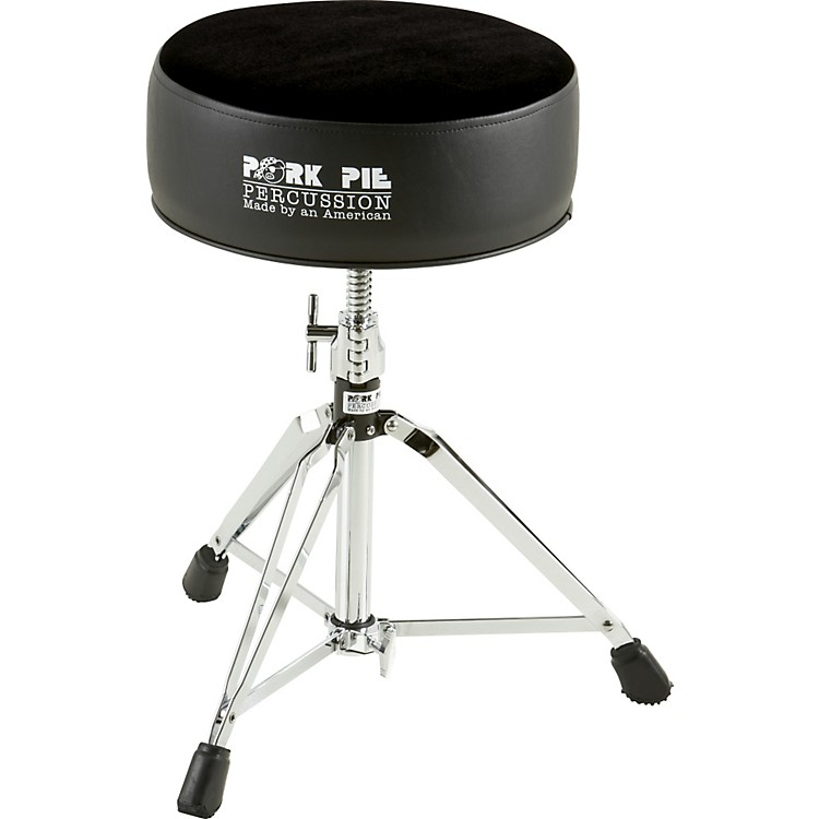 Pork Pie Round Drum Throne Solid Black