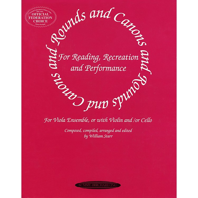 AlfredRounds and Canons for Viola Ensemble (Book)