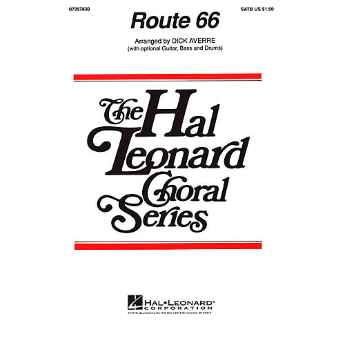 Hal Leonard Route 66 SATB by The Manhattan Transfer arranged by Dick Averre-thumbnail