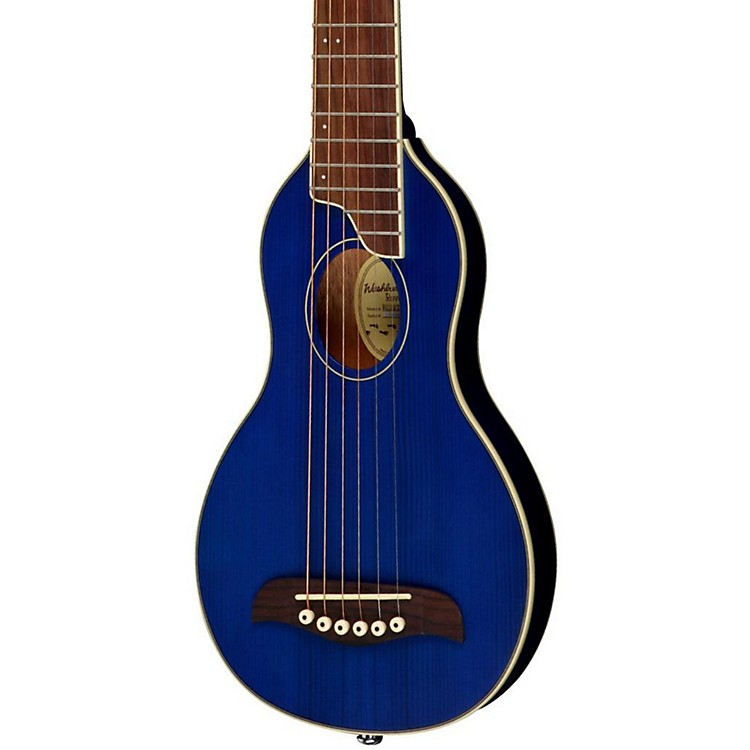 WashburnRover Travel GuitarTrans Blue