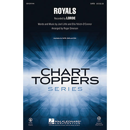 Hal Leonard Royals ShowTrax CD by Lorde Arranged by Roger Emerson