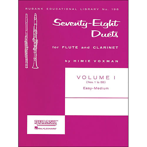 Hal Leonard Rubank 78 Duets for Flute And Clarinet Vol 1 Easy/Medium