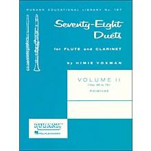 Hal Leonard Rubank 78 Duets for Flute And Clarinet Vol 2 Advanced