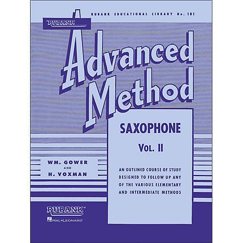 Hal Leonard Rubank Advanced Method for Saxophone Volume 2