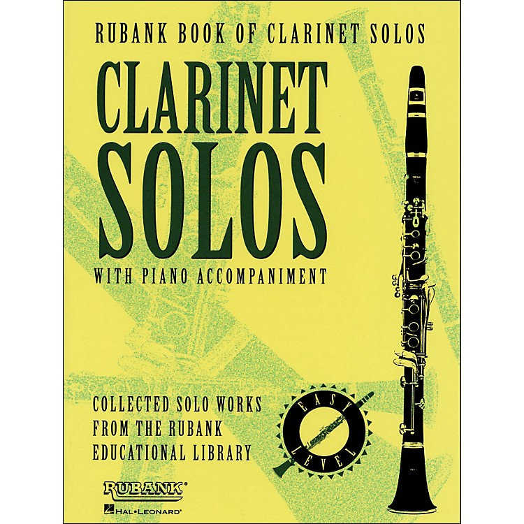 Hal Leonard Rubank Book Of Clarinet Solos - Easy Level