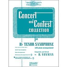 Hal Leonard Rubank Concert And Contest Collection Tenor Sax Book/CD