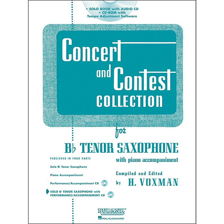 Hal Leonard Rubank Concert And Contest Collection Tenor Sax Book/CD