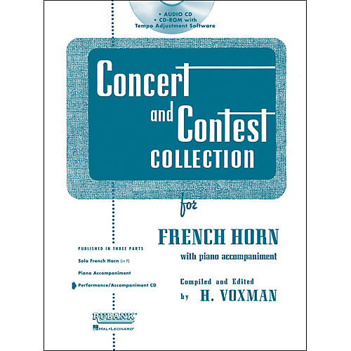 Hal Leonard Rubank Concert And Contest For French Horn - Accompaniment CD