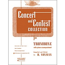 Hal Leonard Rubank Concert And Contest For Trombone - Accompaniment CD
