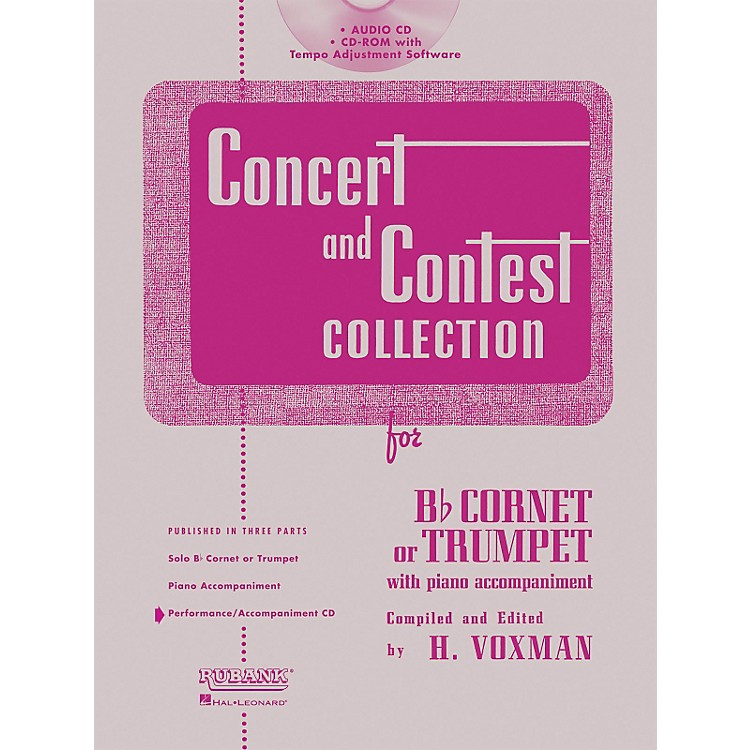 Hal Leonard Rubank Concert And Contest For Trumpet/Cornet - Accompaniment CD