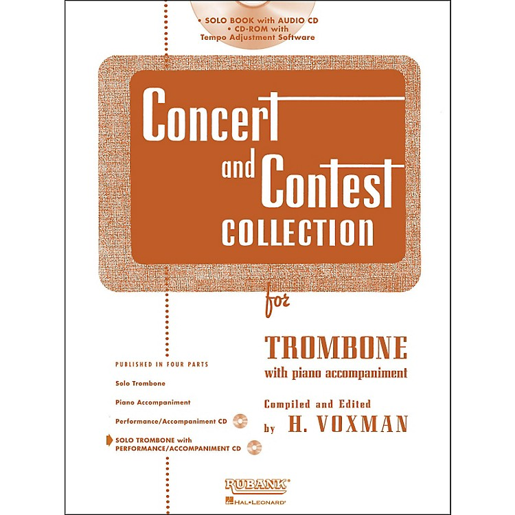 Hal Leonard Rubank Concert & Contest Collection Trombone Book/CD