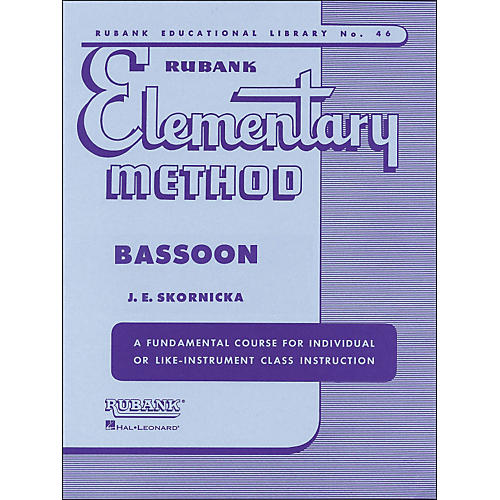 Hal Leonard Rubank Elementary Method Bassoon