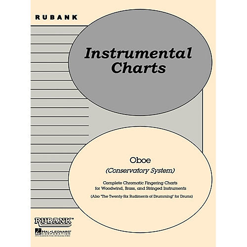 Rubank Publications Rubank Fingering Charts - Oboe Conservatory System Method Series-thumbnail