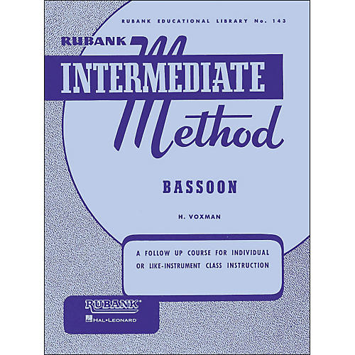 Hal Leonard Rubank Intermediate Methods - Bassoon-thumbnail