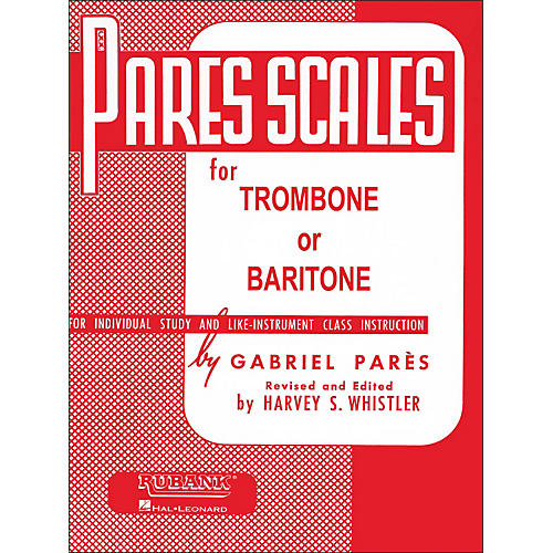 Hal Leonard Rubank Pares Scales for Trombone Or Baritone-thumbnail