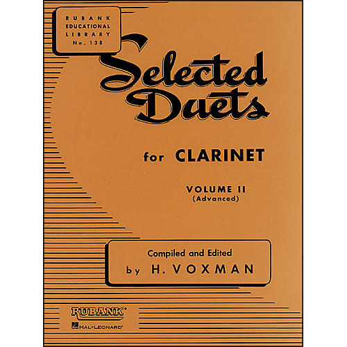 Hal Leonard Rubank Selected Duets Clarinet Vol 2 Advanced