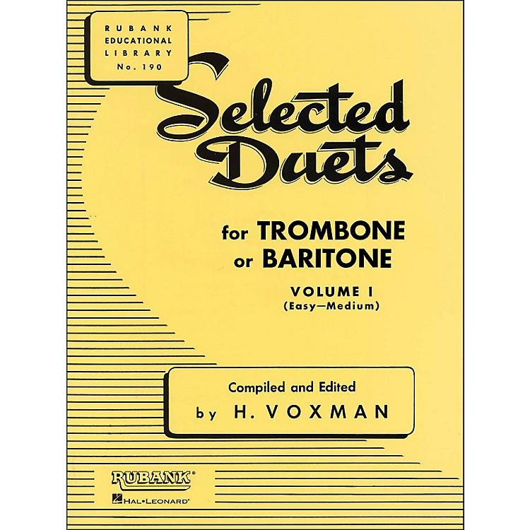 Hal LeonardRubank Selected Duets Trombone Or Baritone Vol 1 Easy/Medium