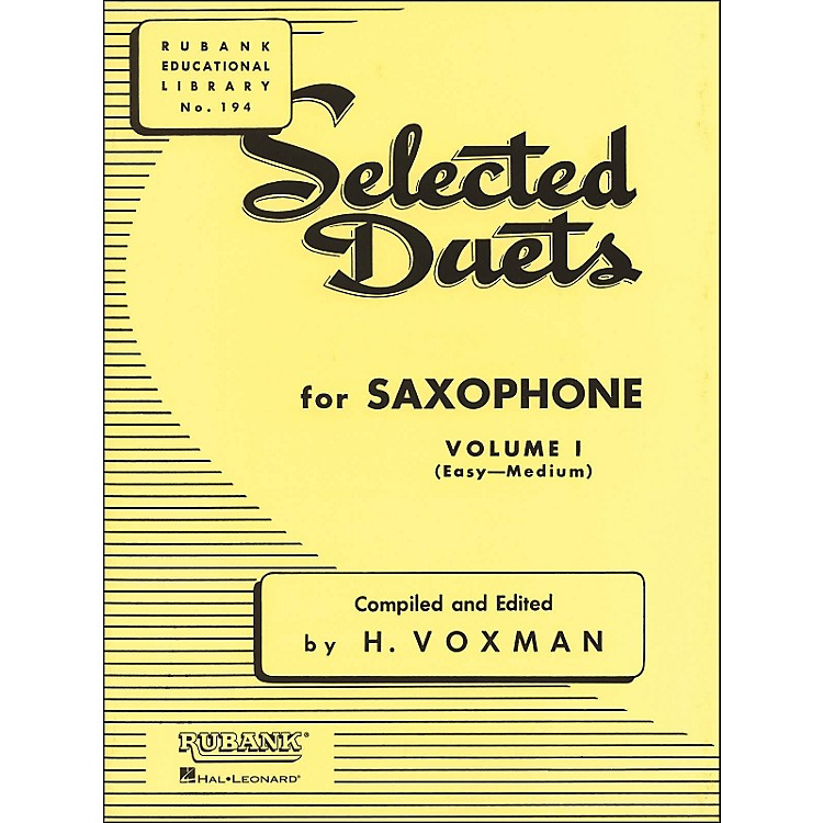 Hal Leonard Rubank Selected Duets for Saxophone Vol 1 Easy/Medium