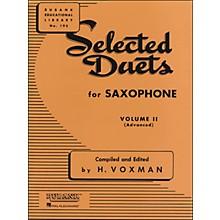 Hal Leonard Rubank Selected Duets for Saxophone Vol 2 Advanced