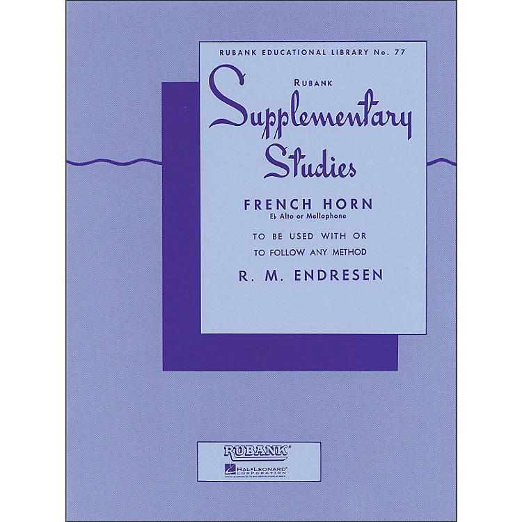 Hal Leonard Rubank Supplementary Studies for French Horn, E Flat Alto Or Mellophone