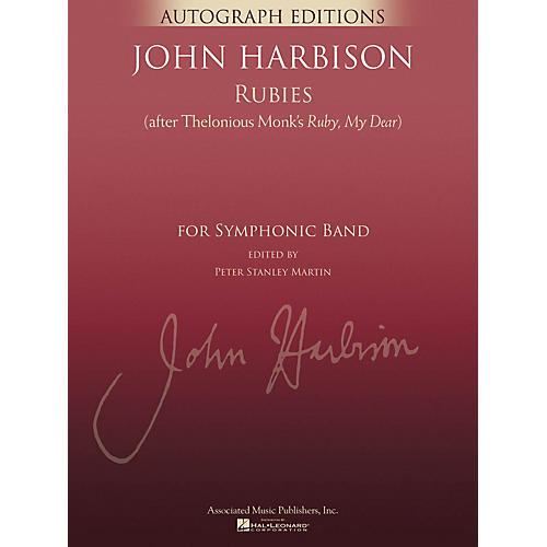 G. Schirmer Rubies (After Thelonious Monk's Ruby, My Dear) Concert Band Level 5 Composed by John Harbison-thumbnail