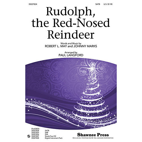 Shawnee Press Rudolph, the Red-Nosed Reindeer SATB arranged by Paul Langford-thumbnail