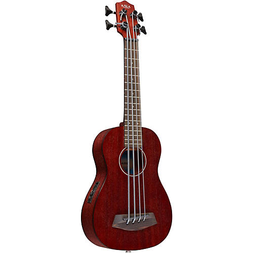 Kala Rumbler Fretted Acoustic Electric U-BASS Natural Mahogany