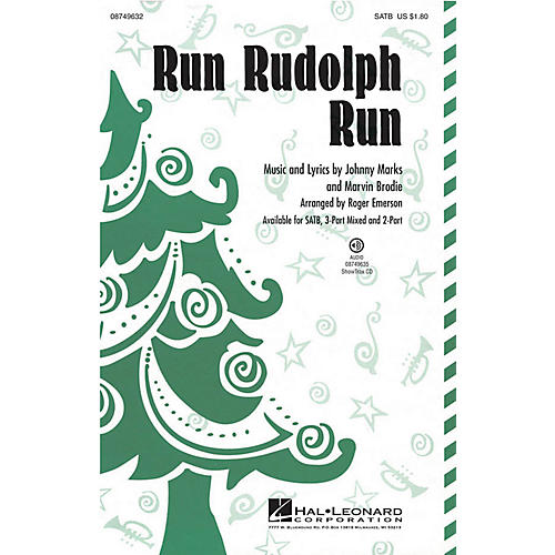 Hal Leonard Run Rudolph Run 3-Part Mixed by Chuck Berry Arranged by Roger Emerson-thumbnail