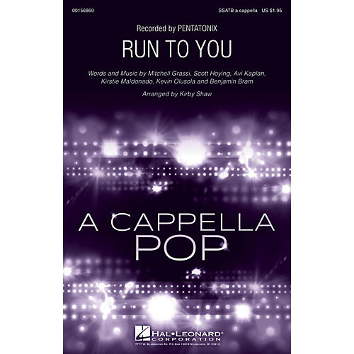 Hal Leonard Run to You SSATB A Cappella by Pentatonix arranged by Kirby Shaw-thumbnail