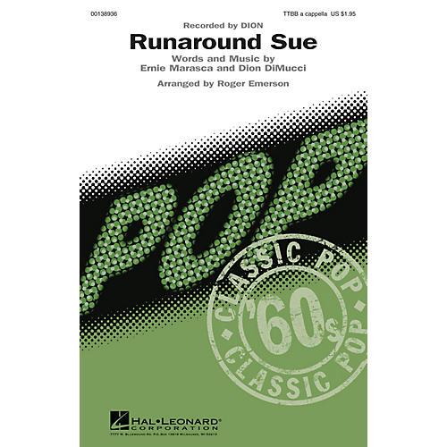 Hal Leonard Runaround Sue TTBB A Cappella by Dion arranged by Roger Emerson-thumbnail