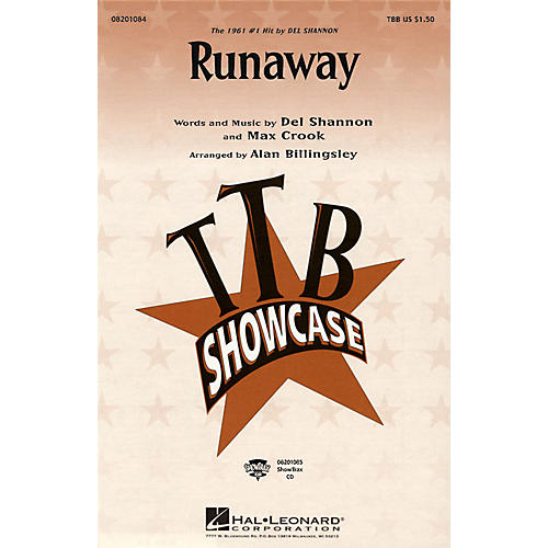Hal Leonard Runaway TBB by Del Shannon arranged by Alan Billingsley-thumbnail