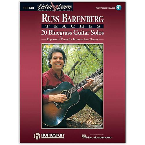 Homespun Russ Barenberg Teaches 20 Bluegrass Guitar Solos (Book/Online Audio)-thumbnail