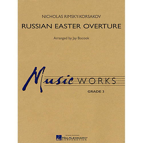 Hal Leonard Russian Easter Overture Concert Band Level 3 Arranged by Jay Bocook-thumbnail