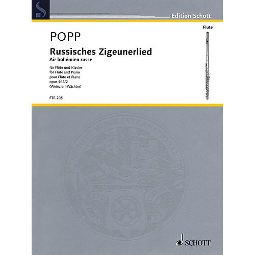 Schott Russisches Zigeunerlied (Air bohemian russe, Op. 462, No. 2 Flute and Piano) Woodwind Series Softcover-thumbnail