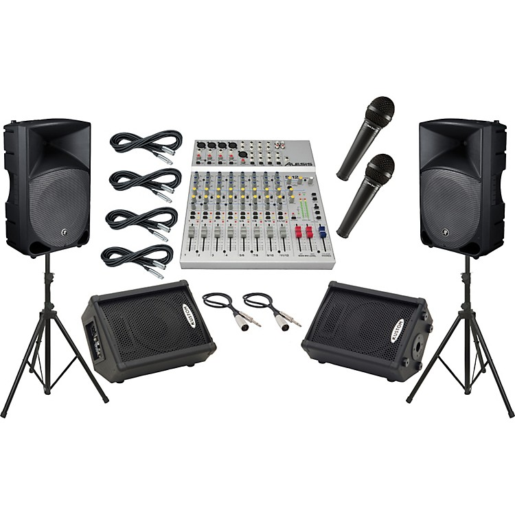 Alesis S-12 / Mackie Thump TH-15A Mains and Monitors Package