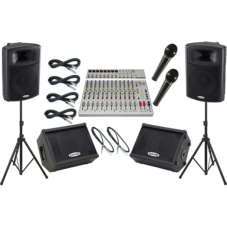 AlesisS-16 / Harbinger APS15 Mains and Monitors Package