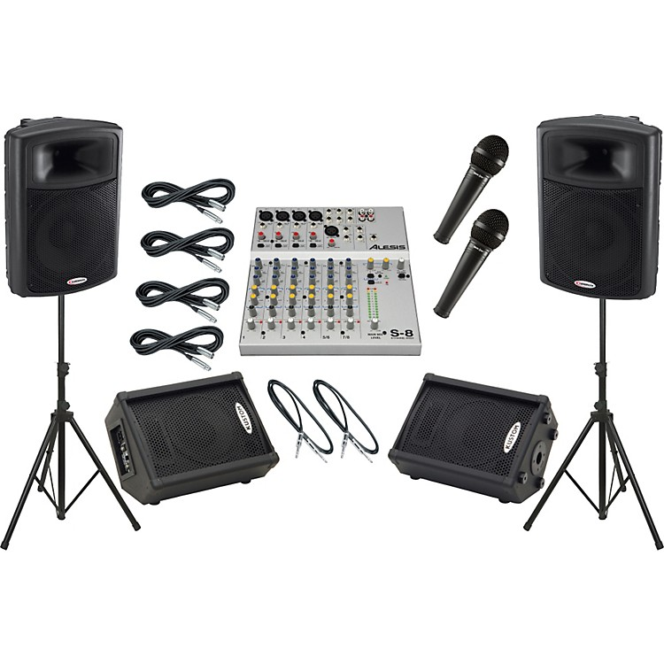 Alesis S-8 / Harbinger APS15 Mains and Monitors Package
