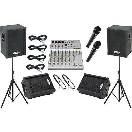 Alesis S-8 / Kustom KPC12P Mains and Monitors Package
