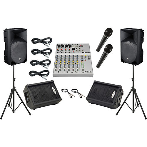 Alesis S-8 / Mackie Thump TH-15A Mains and Monitors Package