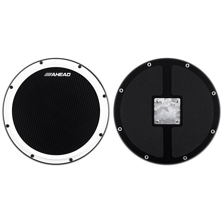 Ahead S-Hoop Marching Practice Pad with Snare Sound Black Carbon Fiber 14 Inch
