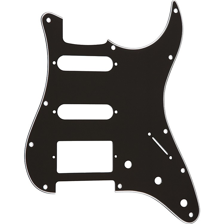 ProLine S-Style Hum-Single-Single 3-Ply Pickguard Black