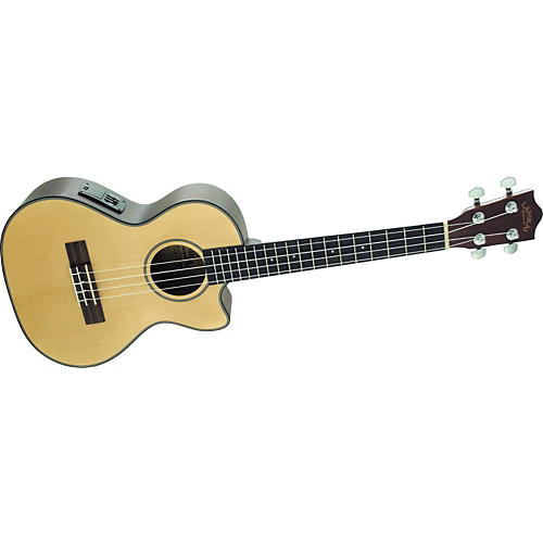 Lanikai S-TEQ Solid Spruce Series Tenor Cutaway Acoustic-Electric Ukulele-thumbnail