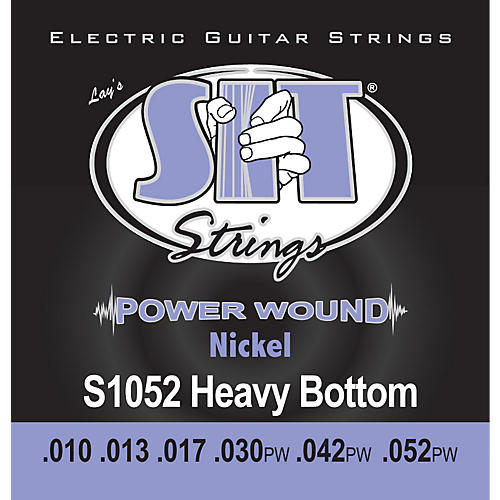 SIT Strings S1052 Heavy Bottom Power Wound Nickel Electric Guitar Strings