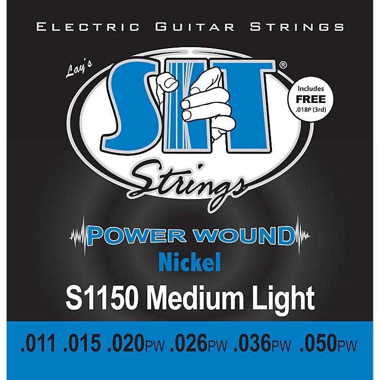SIT StringsS1150 Medium Light Power Wound Nickel Electric Guitar Strings