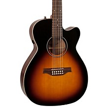 Seagull S12 Spruce Sunburst Cutaway Concert Hall QIT Acoustic-Electric Guitar