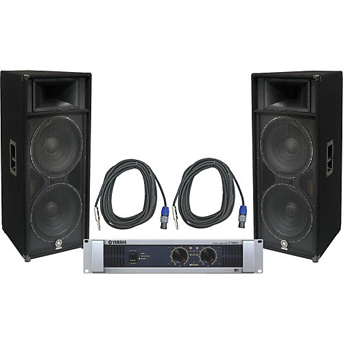 Yamaha S215V/ P7000S Speaker & Amp Package