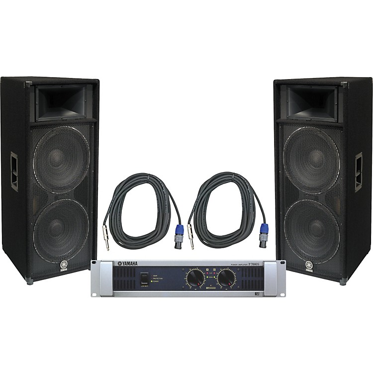 Yamaha Car Audio: Yamaha S215V/ P7000S Speaker & Amp Package