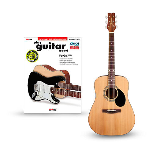 Jasmine S35 Acoustic Guitar Bundle Natural