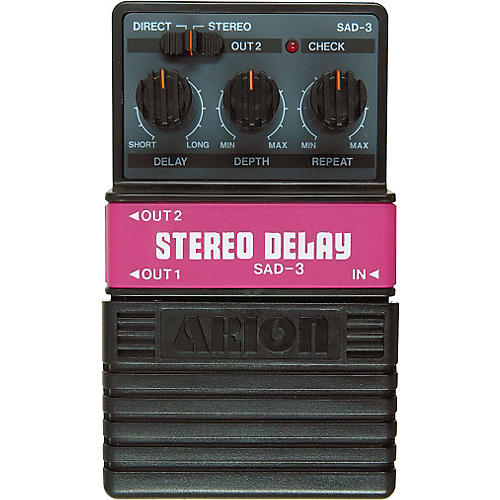 Arion SAD-3 Stereo Delay Guitar Effects Pedal-thumbnail