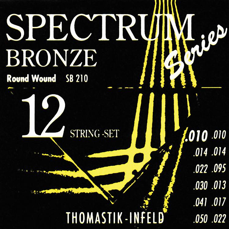 ThomastikSB210 Spectrum Bronze Extra-Light 12-String Acoustic Guitar Strings